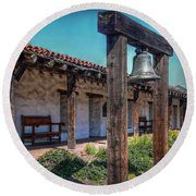 The Mission Bell Round Beach Towel