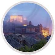 The Mists Of Soriano Round Beach Towel