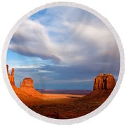 The Mittens Magical Light Round Beach Towel