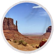 The Mittens Monument Valley Round Beach Towel
