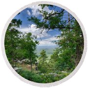 The Mogollon Rim  Round Beach Towel