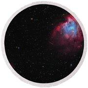 The Monkey Head Nebula And Sh2-247 Round Beach Towel