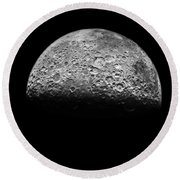 The Moon Round Beach Towel by NASA Science Source