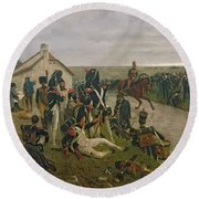 The Morning Of The Battle Of Waterloo Round Beach Towel