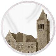 The Mother Church The First Church Of Christ Scientist Boston Massachusetts Circa 1900 Round Beach Towel