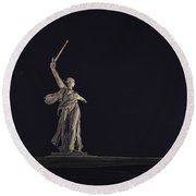 The Motherland Calls. Stalingrad Round Beach Towel