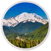 The Mountain And The Valley Round Beach Towel
