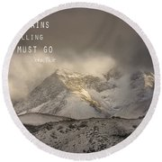 The Mountains Are Calling And I Must Go  John Muir Vintage Round Beach Towel