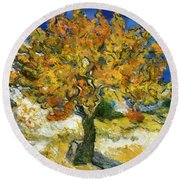 The Mulberry Tree After Van Gogh Round Beach Towel