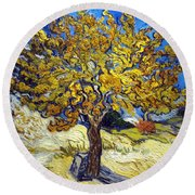 The Mulberry Tree Round Beach Towel