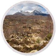 The Munro Of Sgurr Nan Fhir Duibhe Round Beach Towel