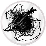 The Murder Of Crows By Jammer Round Beach Towel