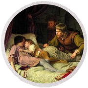 The Murder Of The Sons Of Edward Iv Round Beach Towel