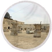 The Museum At Dome Of The Rock Round Beach Towel