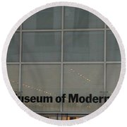 The Museum Of Modern Art Round Beach Towel