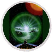 The Music Of The Universe Round Beach Towel