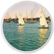 The Mystery Of Sailing Round Beach Towel