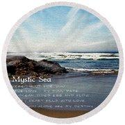 The Mystic Sea Round Beach Towel