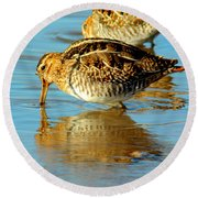 The Mythical Snipe Round Beach Towel