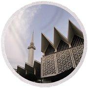The National Mosque Kuala Lumpur Round Beach Towel