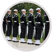 The Navy Ceremonial Guard Round Beach Towel