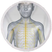 The Nervous System Child Round Beach Towel