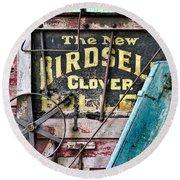 The New Birdsell Clover Huller Round Beach Towel