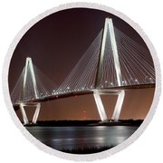 The New Cooper River Bridge Round Beach Towel