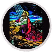 The Night Before The Cross Round Beach Towel