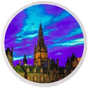 The Night Of The Thousand Spells Round Beach Towel