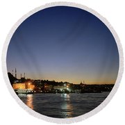 Istanbul Nights Round Beach Towel