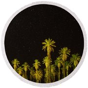 The Night Sky Over Death Valley Round Beach Towel