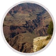 The Nooks And Cranies Of The Grand Canyon Round Beach Towel