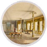 The North Drawing Room, Or Music Room Round Beach Towel