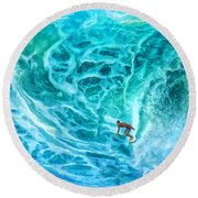 The North Shore Optimist Round Beach Towel