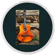 The Not So Old Guitar Round Beach Towel