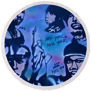 The Nyc Side Round Beach Towel