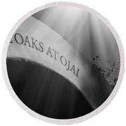 The Oaks At Ojai Round Beach Towel