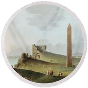 The Obelisks At Alexandria, Called Round Beach Towel