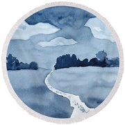 The Obvious Path Round Beach Towel