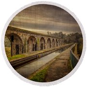 The Old Aqueduct Round Beach Towel