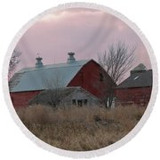 The Old Barns Round Beach Towel