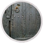 The Old Door Round Beach Towel by France  Art