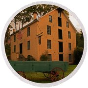 The Old Grist Mill Round Beach Towel
