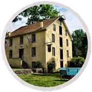 The Old Grist Mill  Paoli Pa. Round Beach Towel