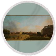The Old Horse Guards From St James S Park Round Beach Towel