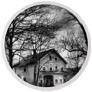 The Old House Down The Street Round Beach Towel