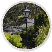 The Old Lamp Round Beach Towel