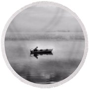 The Old Man And The Sea Round Beach Towel by Dan Sproul