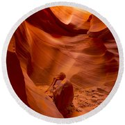 The Old Man Of The Canyons Round Beach Towel